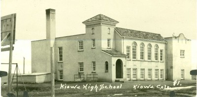 The Kiowa High School shortly after completion, 1921.